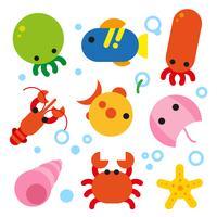 conception de la collection d'animaux de l'océan