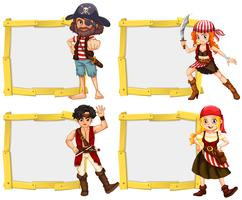 Border template with pirate crew