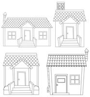 Set of simple house outline