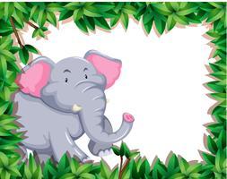 Elefante nel telaio della natura