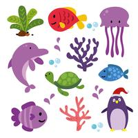 ocean animals collection design