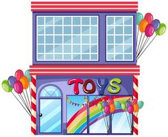 A toy shop on white background