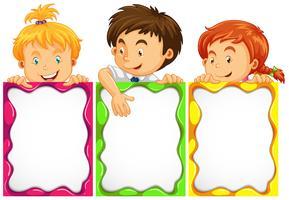 Fahnendesign mit niedlichen Kindern