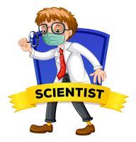 Label design with male scientist