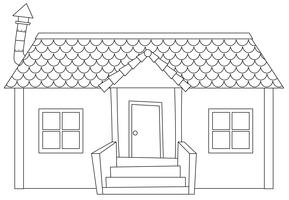 Simple modern house outline