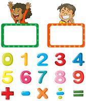 Rahmenvorlage und Schriftgestaltung für Zahlen