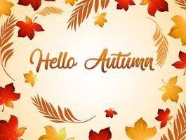 Modello di sfondo autunno ringraziamento
