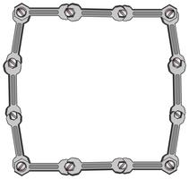 Border template with wrenches