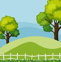 Scena di sfondo con alberi verdi