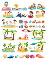 Set of beach theme