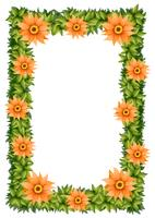 Ramdesign med orange blommor
