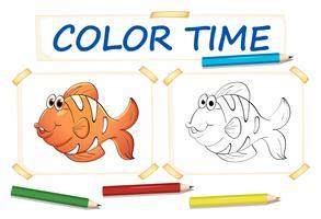 Modelo de coloração com peixe-palhaço