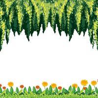 Un modèle naturel de vert et de fleurs