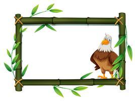 Ein Adler an der Bambusgrenze