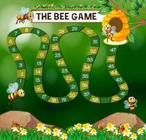 Spelmall med bin som flyger i trädgården