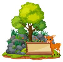 Banner template with little fawn