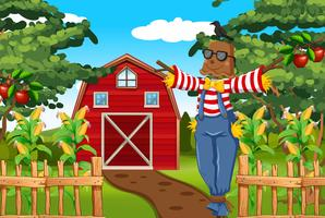 Scarecrow in the farmyard
