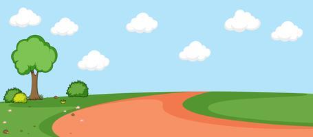 Un paysage nature plat