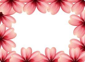 concept de cadre de fleur rose vecteur