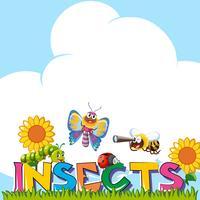 Projeto de plano de fundo com muitos insetos