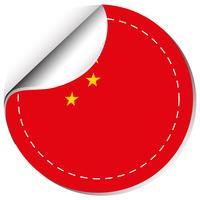 Diseño de etiqueta para la bandera de china