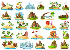 Set of different island
