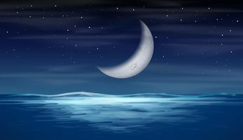 En måne på himlen