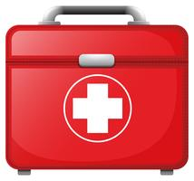 A red medical bag vector