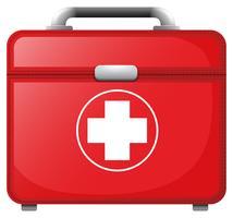 En röd medicinsk väska