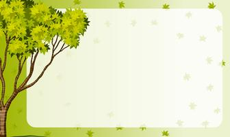 Border frame with nature theme vector