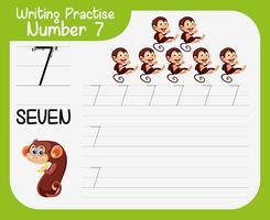 Skrivande övning nummer sju