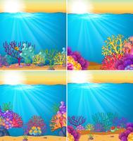 Scena di sfondo con barriera corallina sott'acqua