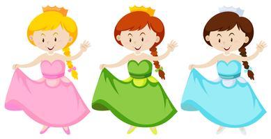 Chica en traje de princesa