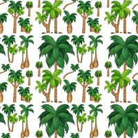 Seamless background with palm trees