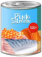Pink salmon in aluminum can
