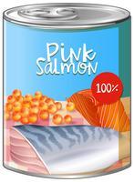 Saumon rose en canette d'aluminium