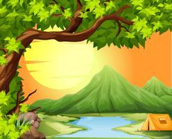 Acampar na natureza