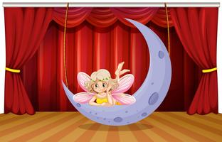 Stage scene with fairy on the moon