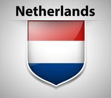 Flagge der Niederlande auf Abzeichen