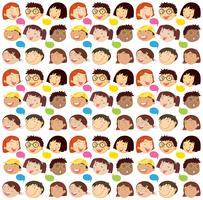 Nahtloser Hintergrund mit Jungen und Mädchen