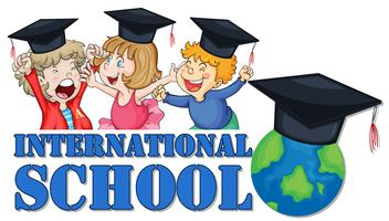 Vestito di laurea per la scuola internazionale