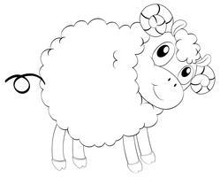 Contour d'animaux pour mouton mignon