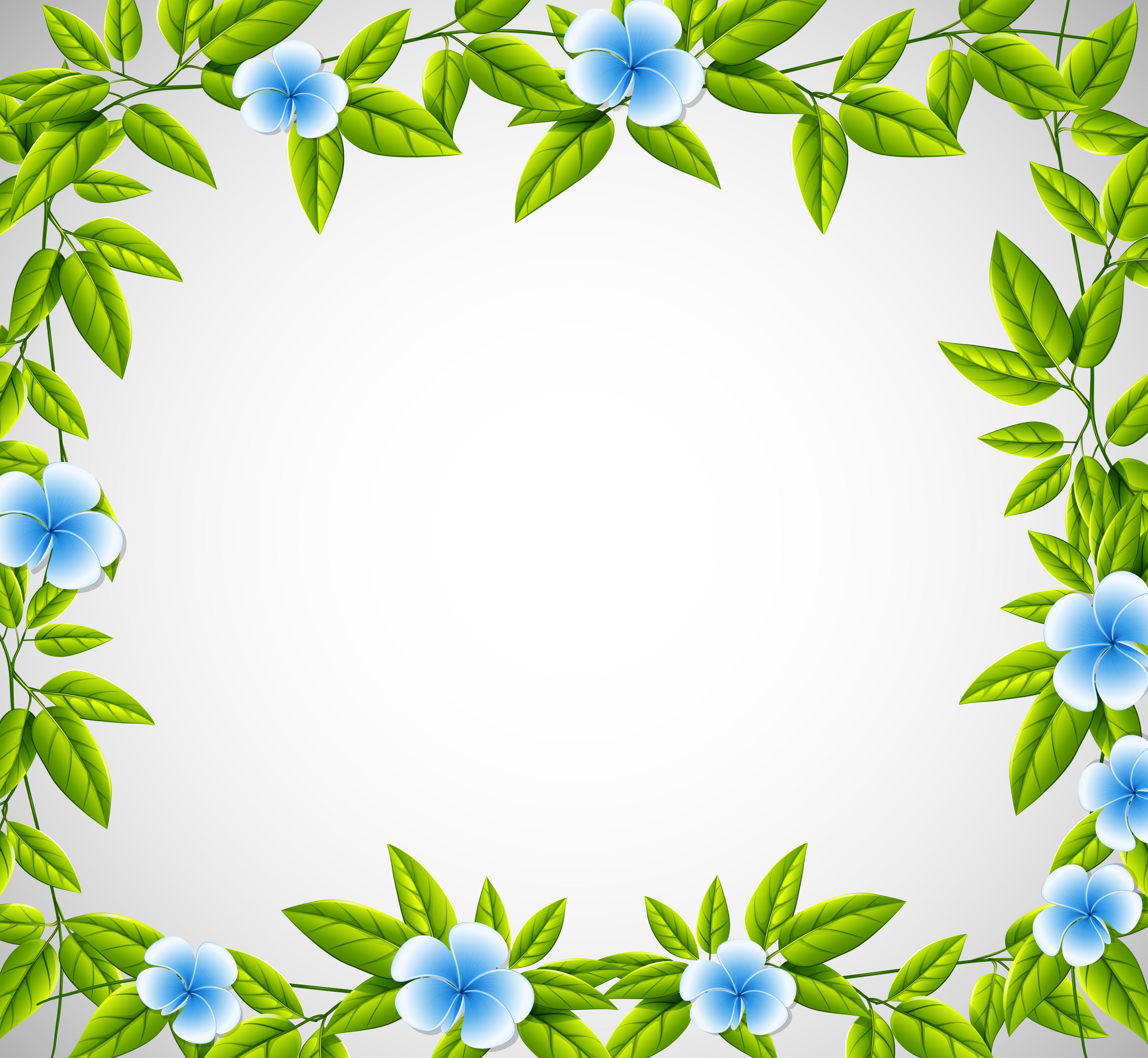 blue flower nature frame download free vectors clipart graphics vector art vecteezy