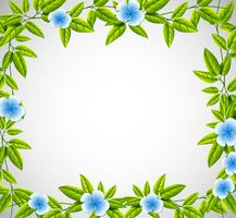 Blue flower nature frame