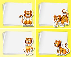 Paper template with tigers