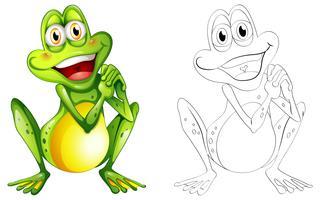 Doodle animale per piccola rana