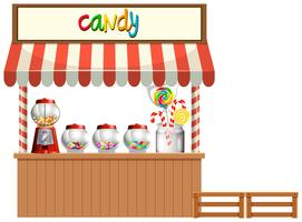 Candy Stall witte achtergrond