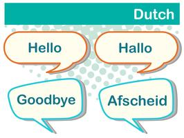 Saluto parole in lingua olandese