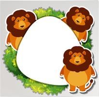Three lions around the border