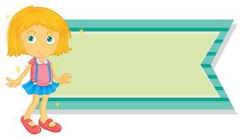 Banderollsmall med liten tjej